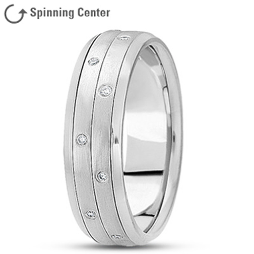 Two Row Diamond Spinner Ring