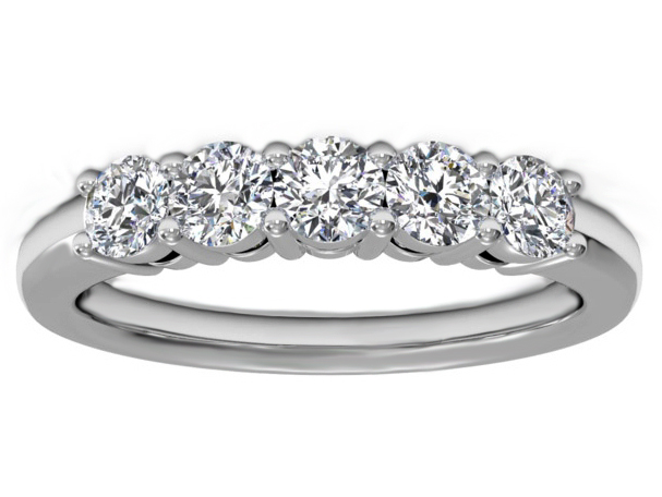 Five Stone Diamond Wedding Ring 0.5 carat TW