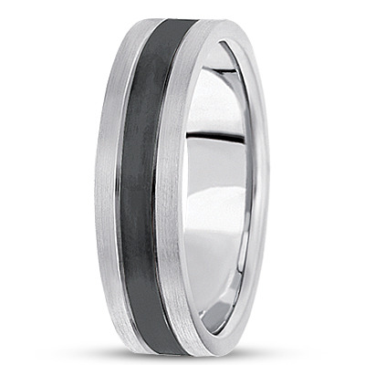 Black Rhodium Satin Men's Tri Band