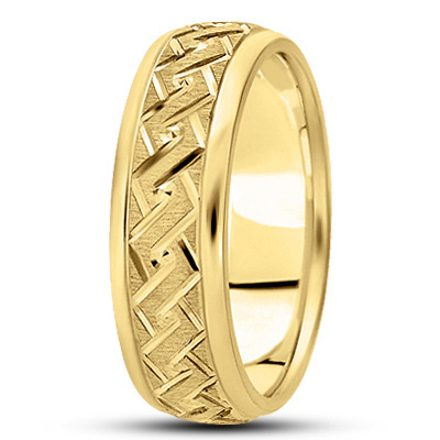 Diamond Cut Angular Rope Yellow Band