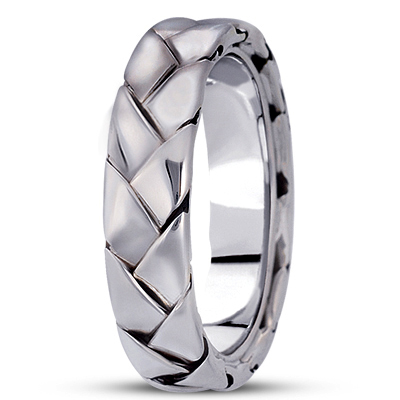 Woven Men's Comfort Wedding Band