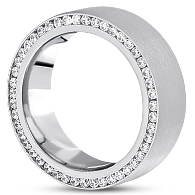 Domed Surprise Diamond Eternity Band