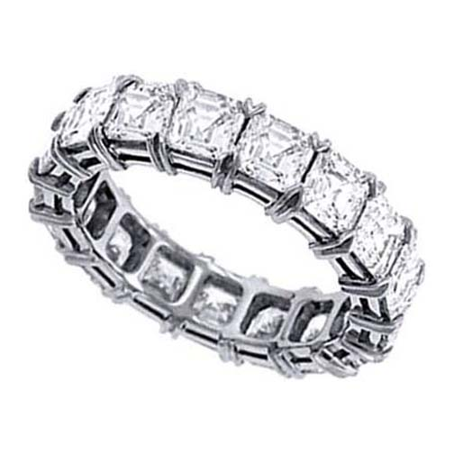 Asscher Cut Diamond Eternity Wedding Anniversary Band 4.50 tcw.